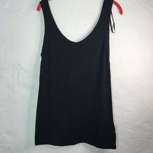 Anne Klein Black dressy tank top women's size med
